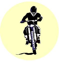Racer and sport motocross bike icon vector