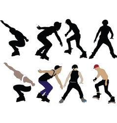 roller skaters vector image
