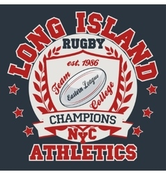 Rugby T-shirt Printing Design vector image