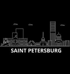 saint petersburg silhouette skyline russia vector image