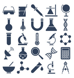 science and technology isolated icons set vector image
