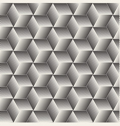 seamless halftone lines mosaic pattern modern vector image