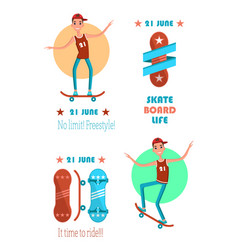 skate board life 21 june no limit freestyle card vector image