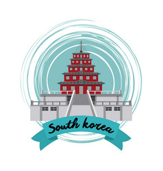 South korea culture vector