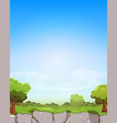 Spring landscape background vector