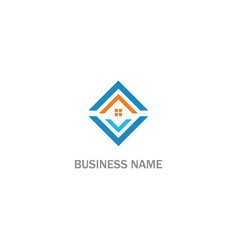 square realty rohouse logo vector image