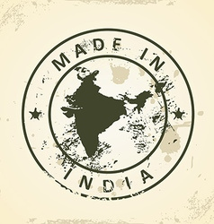 Stamp with map of India vector image