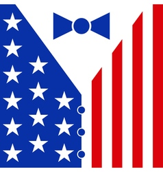 Suit in colors american flag vector