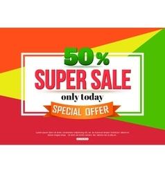 Super Sale banner on colorful background vector