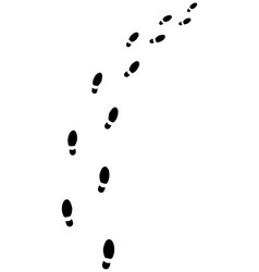 Trail shoes prints vector