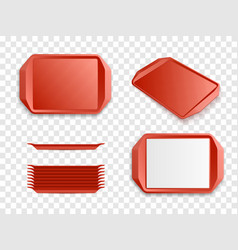 tray salver set isolated vector image