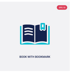 Two color book with bookmark icon from education vector