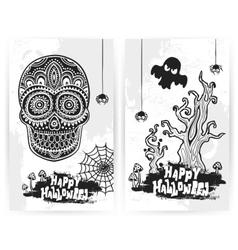 vintage halloween of banners vector image
