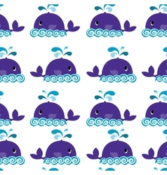 whale on a white background vector image