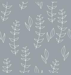 Wild flowers pattern vector