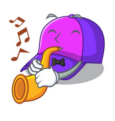 With trumpet cap character in the shape funny vector