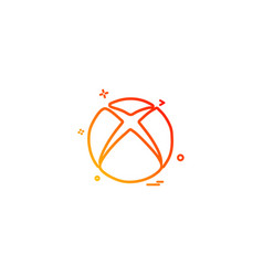 xbox icon design vector image