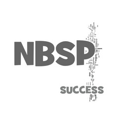 Your success text word cloud concept vector