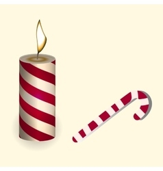 a red Christmas candle and vector image vector image