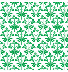 background pattern with soybean plant vector image vector image