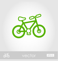 Bicycle outline icon summer vacation vector