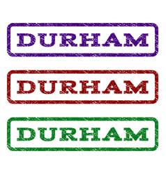 durham watermark stamp vector image