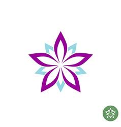 Five leaves lotus flower logo template vector
