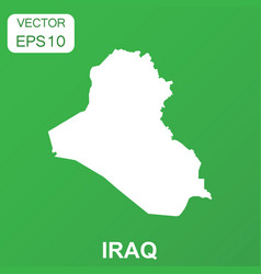 Iraq map icon business concept iraq pictogram on vector