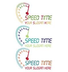 Speed time logo vector
