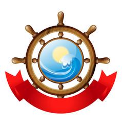 wheel of the ship vector image