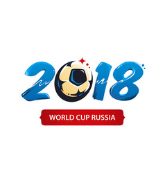 world cup 2018 vector image vector image