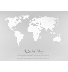 World map silhouette Paper card map vector image