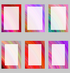 Colorful abstract digital art brochure frame set vector image vector image