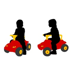 toddler car vector image vector image