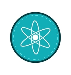 atom molecule structure model blue circle vector image