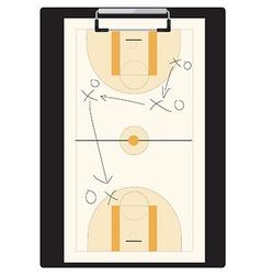 Basketball tactic vector image vector image