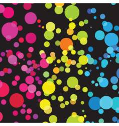 bright circles vector image