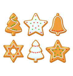 Christmas cookies set vector image