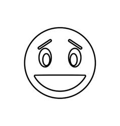 Confused emoticon icon outline style vector image