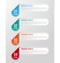 Modern 3D folded paper infographics options banner vector image