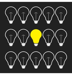 On and off light bulb set Idea concept Funny vector image vector image