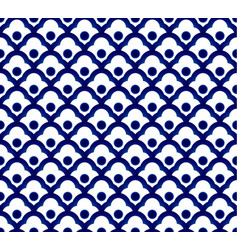 chinese blue pattern vector image vector image