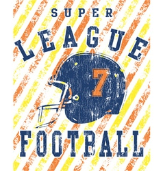 football league vector image vector image