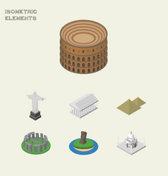 isometric cities set of india mosque coliseum vector image