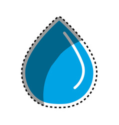 sticker blue water drop save eco vector image vector image
