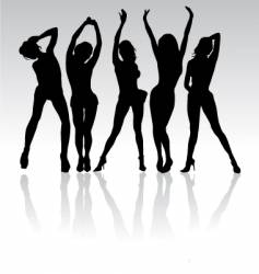 women party silhouettes vector image vector image