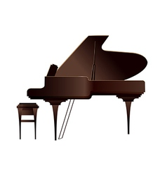 A piano is placed vector