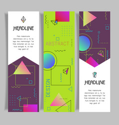 abstract geometric design banners templates vector image