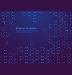 abstract molecule background hexagon dna network vector image