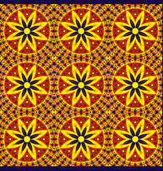 African floral seamless pattern ethnic and tribal vector